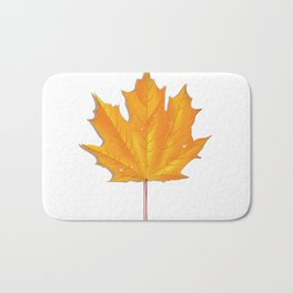 Orange maple leaf Bath Mat