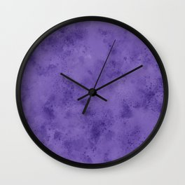 Watercolor Splattering in Ultra Violet (2018 Pantone color) Wall Clock
