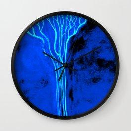 Blue Fall Tree Wall Clock