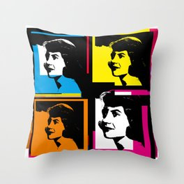 SYVIA PLATH (POP-ART STYLE 4-UP COLLAGE) Throw Pillow