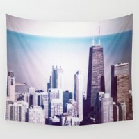 chicago Wall Tapestries featuring Chicago by Jon Damaschke