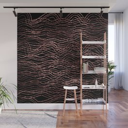 sparkling rose waves Wall Mural