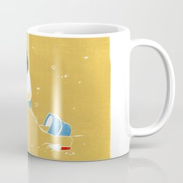 SandCastle at the Beach: Memory of Childhood Woodblock Prints Coffee Mug