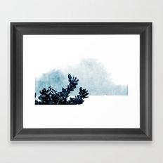 Window Flower Framed Art Print
