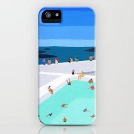 Santorini sun iPhone Case