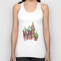 russia Tank Tops featuring Russia by Lam Designs