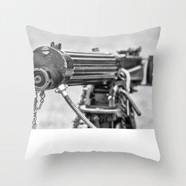 Vickers Machine Gun Throw Pillow