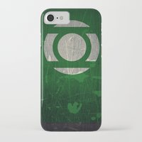 green lantern iPhone & iPod Cases featuring Green Lantern by Fries Frame