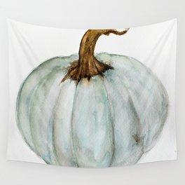 Blue-Gray Cinderella Pumpkin - Watercolor  Wall Tapestry
