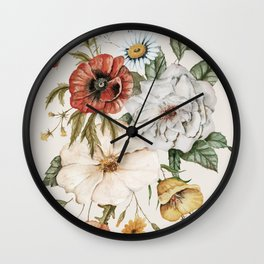 Wildflower Bouquet Wall Clock