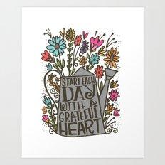 GRATEFUL HEART Art Print