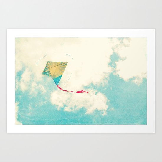 Our Heart is Like a Kite Art Print