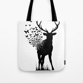 Butterfly Deer Tote Bag