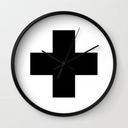 Swiss Cross Wall Clock