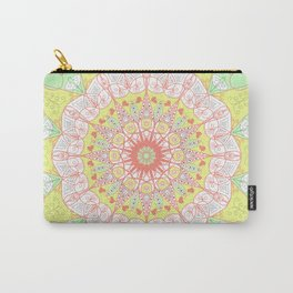 Mandala Design Pattern Pastel Colors Carry-All Pouch
