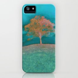 ABSTRACT - solitary tree iPhone Case