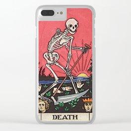 Death Tarot Clear iPhone Case