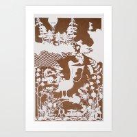 pocahontas Art Prints featuring pocahontas by Melissa F. Lund