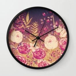 Vintage Garden 1 (Golden Sunset) Wall Clock