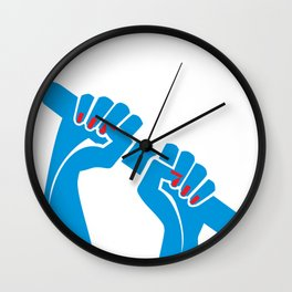 Rowing Hands 2 Wall Clock