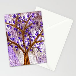 Purple tree Stationery Cards