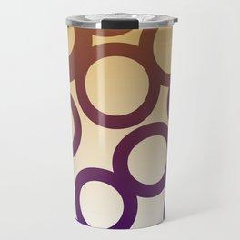 design elements Dots blue, gold Travel Mug