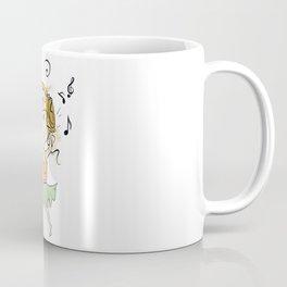 Girl With Headphones Coffee Mug