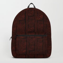 Hand Drawn African Tribal Pattern in Brown Vertical Backpack