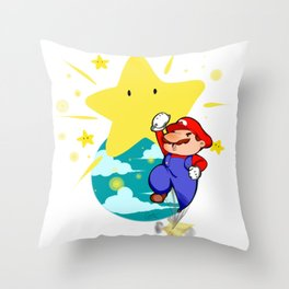 JUMP MARIO JUMP! Throw Pillow