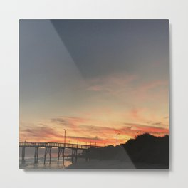 Sunset North Topsail Island, NC God Sky Art  Metal Print