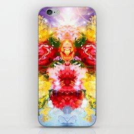 Flower face iPhone Skin