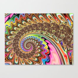 BBQSHOES: Fractal Spirit Spiral Canvas Print