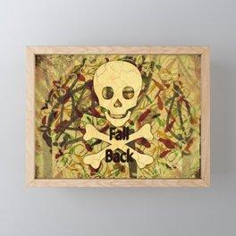 Fall Back Skull Framed Mini Art Print