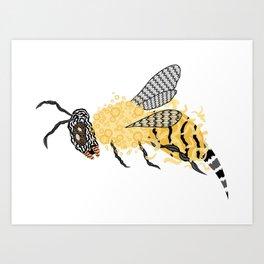Abstract Bee Art Print