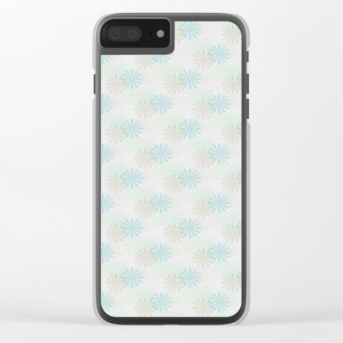 Flowers pattern motif Clear iPhone Case