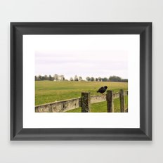 Enjoying the rain Framed Art Print
