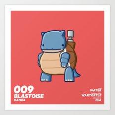 009 Blastoise Art Print