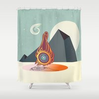 zodiac Shower Curtains featuring The zodiac by /CAM