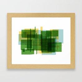 Abstract Geometric Dots Framed Art Print