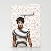 darren criss Stationery Cards featuring Darren Criss  by Hannah