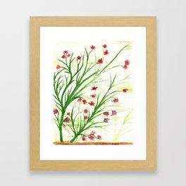 Red blossoms Framed Art Print