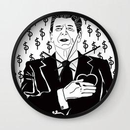 Reaganomics Wall Clock