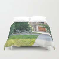 once upon a  time Duvet Covers featuring Once Upon a Time by Yang Z.
