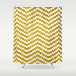 Golden obsession Shower Curtain
