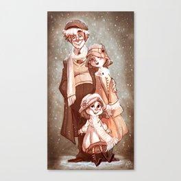 Sepia Snow Canvas Print