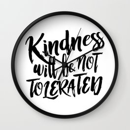 Nasty Kindness – Black Wall Clock