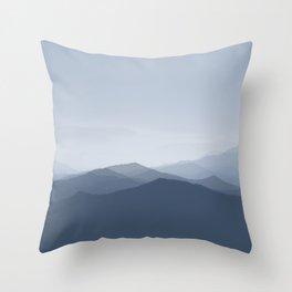 hazy morning blues Throw Pillow