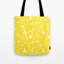 Ampersands - Yellow Tote Bag