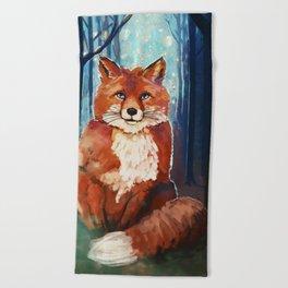 Fox - Forrest - Cute Beach Towel