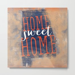 home sweet home alabama - orange and blue Metal Print